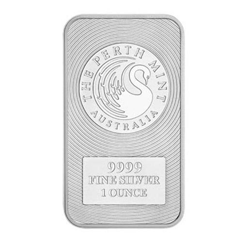 1oz Kangaroo Minted Silver Bars manufactured by the world-renowned Perth Mint