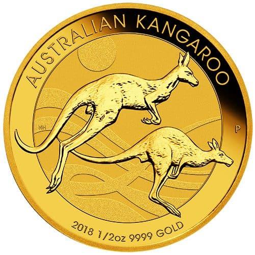 06 2018 Australian Kangaroo 1/2oz 9999 Gold Bullion