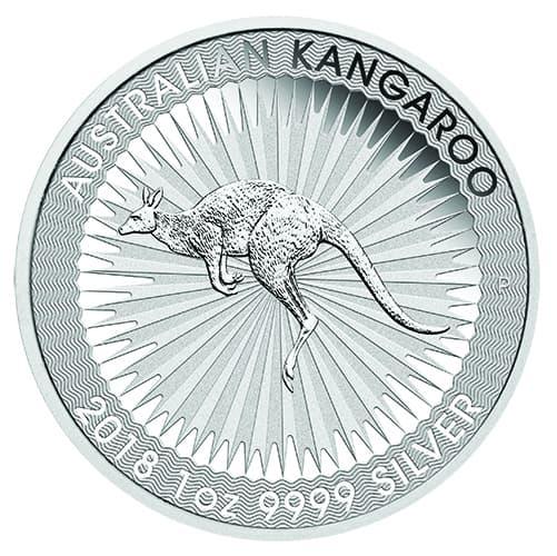 Australian Kangaroo Silver 1 oz 9999 Bullion coin 02 2018