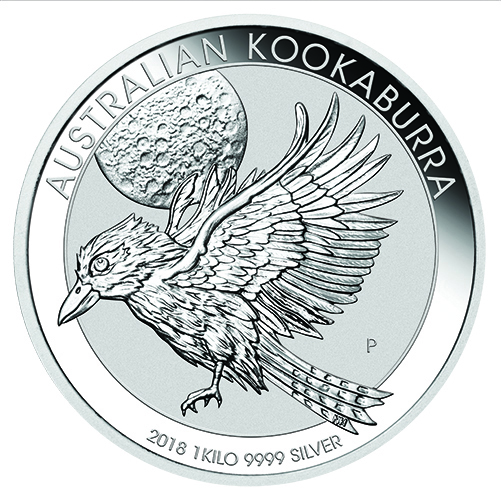 Australian Kookaburra Silver 1Kilo Bullion Straight On Imperial Bullion 13 2018