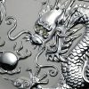 Dragon with Diamond Eyes on 1kg silver bullion by Imperial Bullion 2000 Australia