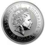 Queen Elizabeth II on 2000 Australia 1kg silver bullion Dragon with Diamond Eyes by Imperial Bullion