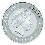 Queen Elizabeth II on Australian Kangaroo Silver 1 oz Bullion coin obverse by Imperial Bullion 03 2017